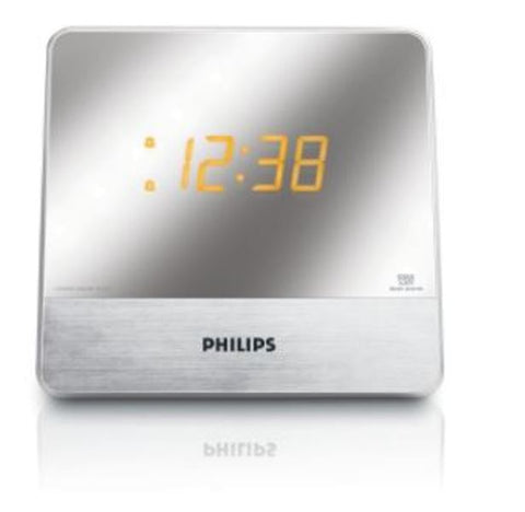 Philips AJ3231 Mirror Finish Digital Alarm AM FM Clock MP3 Radio