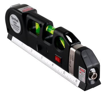 Qooltek Multi Purpose Laser Level Tape Measure 8 feet Ruler