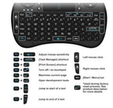 Rii i8 Mini 2.4GHz Wireless Touchpad Mini Handheld Keyboard Mouse