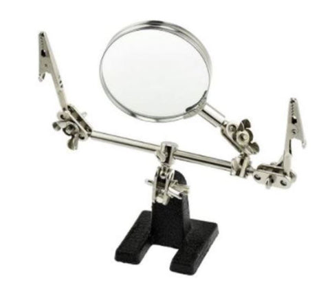 SE MZ101B Helping Hands Magnifying Glass Soldering Stand Tool