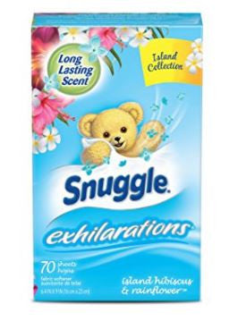Snuggle Exhilarations Fabric Softener Dryer 70 Sheets Rainflower