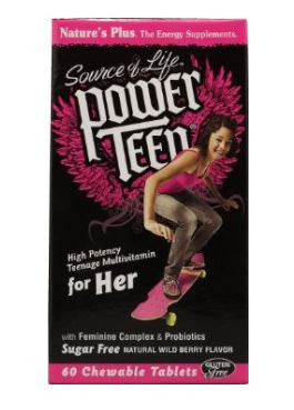 Power Teen For Her Multi Nature's Plus 60 Chewable