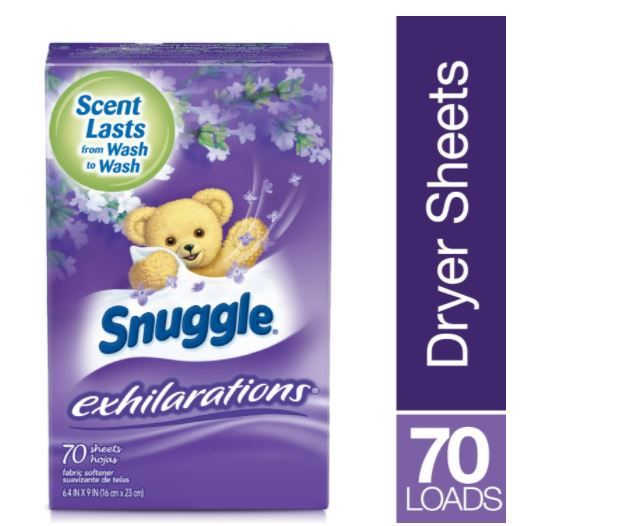 Snuggle 70-PC Lavender & Vanilla Orchid Exhilarations Fabric Clothes Softener Dryer Sheets