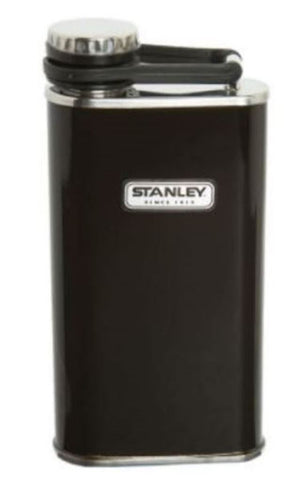 Stanley 8-Oz Stainless Steel Classic Flask Camping Alcohol Liquor Black