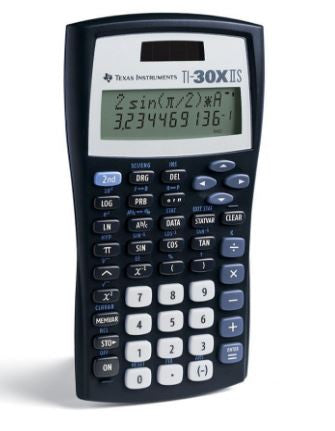 Texas Instruments TI-30X IIS 2-Line Scientific Calculator Black