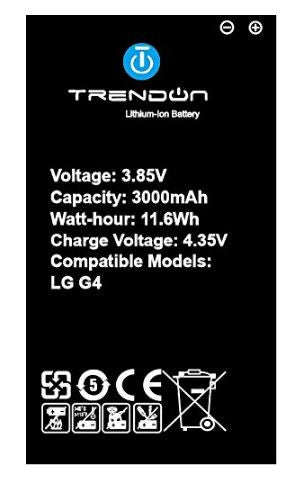 Trendon LG G4 Li-Ion Battery 3000mAh