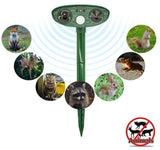 Tyruss Ultrasonic Solar Powered Animals Repeller Dogs Cats Pest Repellent
