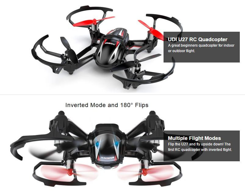 UDI RC U27 Quadcopter Drone 2.4Ghz 4 Channel 6 Axis Remote Control