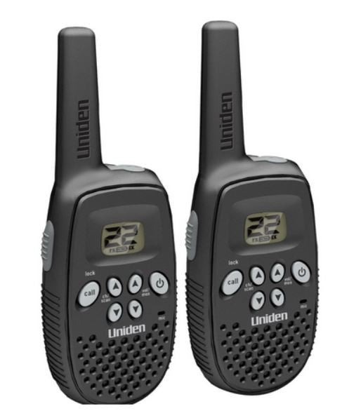 Uniden Two 2 Way Radios Walkie Talkie 16 Mile Non-rechargeable