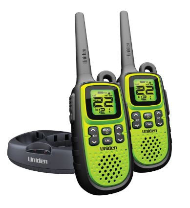 Uniden Waterproof Two 2 Way Radios Walkie Talkie 28 Mile Range