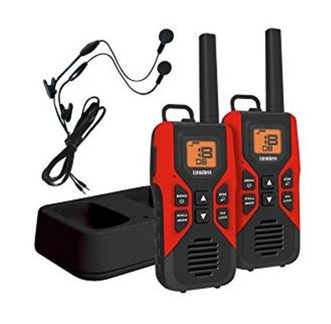 Uniden GMR3055-2CK Two 2 Way Radios Walkie Talkie 30 Miles, Red