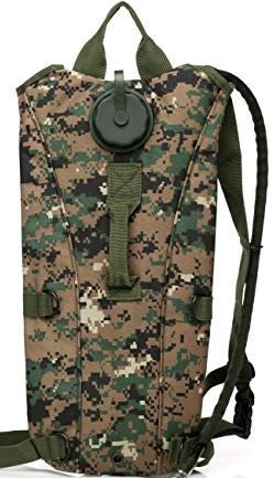 US Army 3L Camo Hydration Pack Water Bladder Backpack Hiking