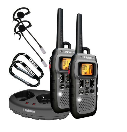 Uniden Submersible Two 2 Way Radios Walkie Talkie 50 Mile Range