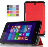 VSTN Tri-Fold Leather Case for HP Stream 7 Tablet Red