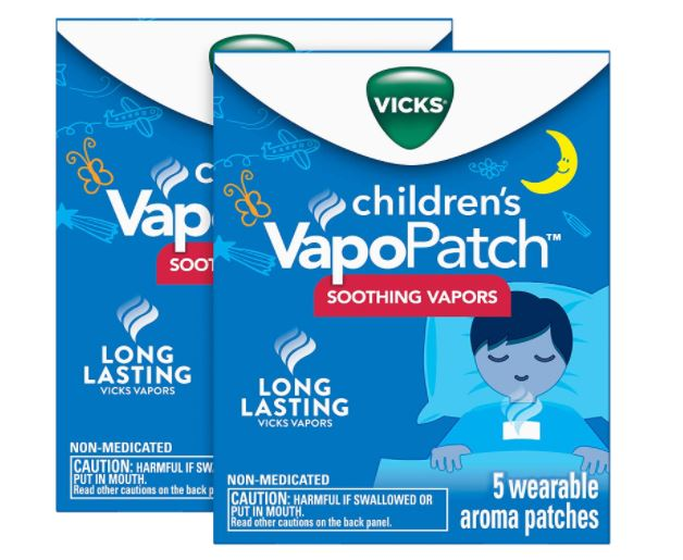 Vicks 2-Pack Children's Kids VapoPatch Long Lasting Soothing Vapors