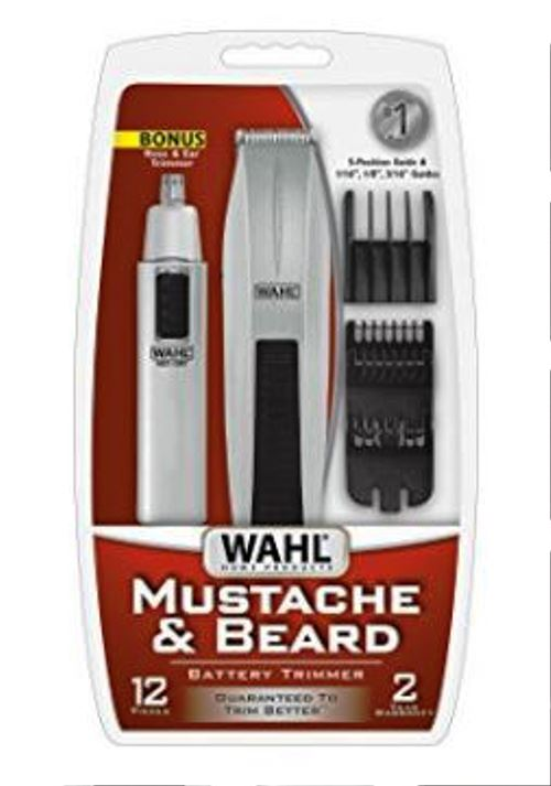 Wahl 5537-420 Mustache, Beard, Ear, Nose Trimmer Clipper