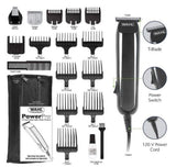 Wahl 9686 PowerPro Corded Face Beard Nose Ear Hair Clipper Trimmer Detailer Shaver Razor Groomer Grooming Kit 110V