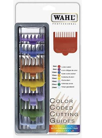 Wahl 3170-400 8-PC Professional Color Coded Cutting Guides Comb Clipper