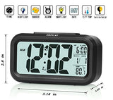 Zhpuat Smart LCD Backlight Desk Digital Travel Alarm Temperature Clock