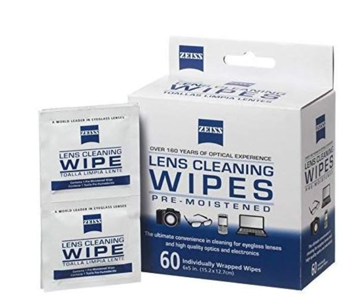 Zeiss Eyeglass Lens Cleaning Wipes 60 Count