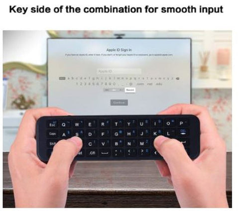 iPazzPort KP-810-56S Wireless Bluetooth Mini Keyboard for Apple TV 4K 4th Gen