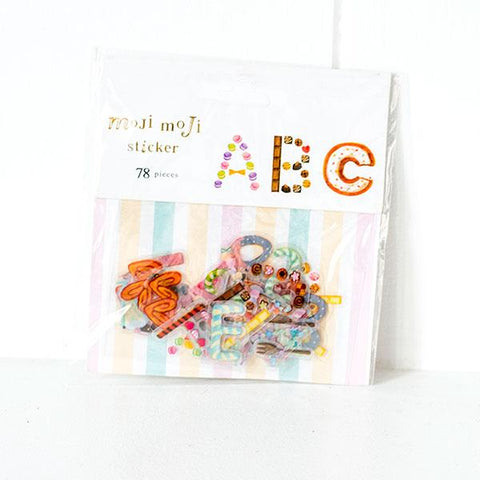 Moji Moji Alphabet Stickers - B09
