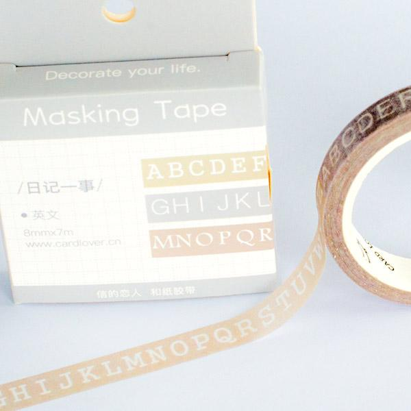 Washi Tape - Alphabet Slim 8mm