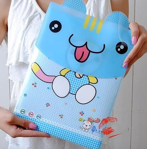 Blue cat file folder