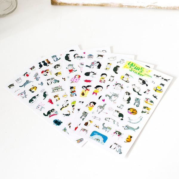 Cute Feline Friends Sticker Pack