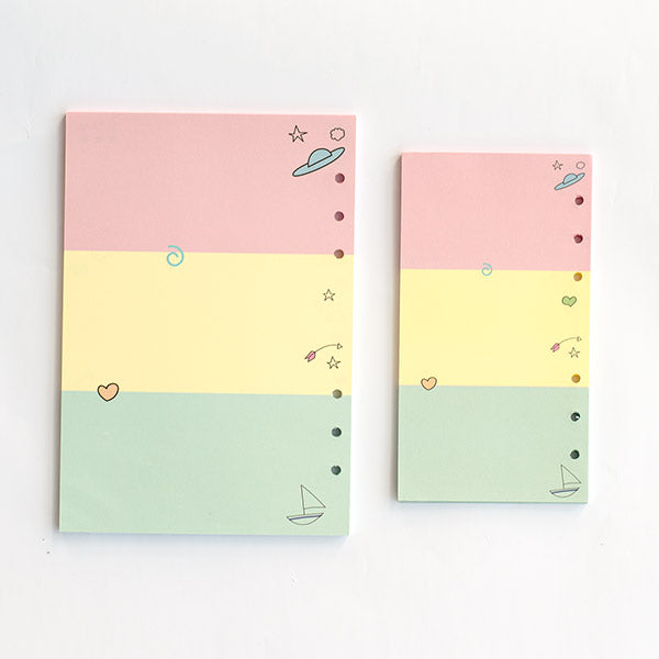 Colorful Planner Or Diary Inserts