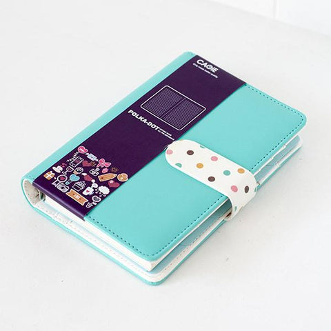 Light Blue Polka Diary