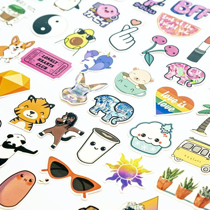 50 Funky Sticker Set