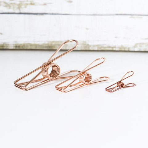 Vintage Rose Gold Fishtail Clip