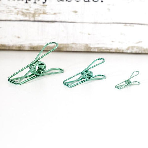 Vintage Green Fishtail Clip
