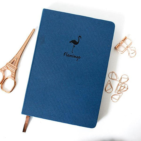 Flamingo Note book - Dark Blue