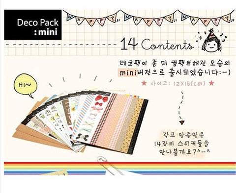 Deco Pack mini sticker set