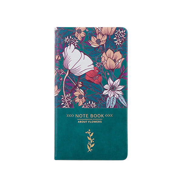 A6 Faux Leather Flower Notebook