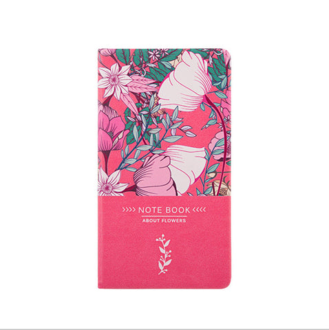 Faux Leather Rose A6 Flower Notebook