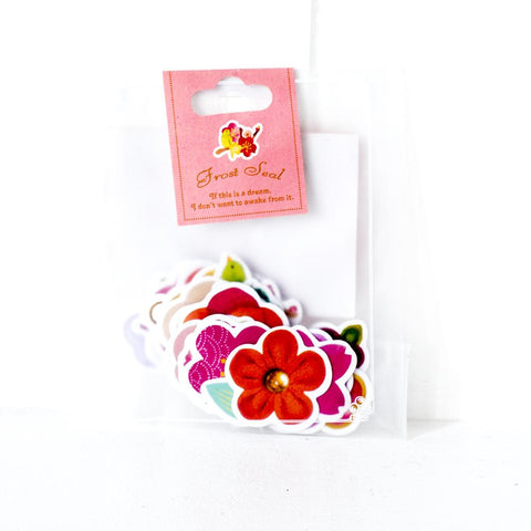 Frost Seal Flower Stickers