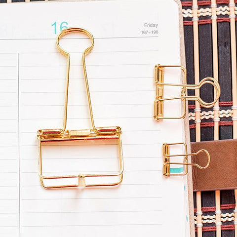 Skeleton Binder Clips GOLD