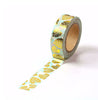 Gold Foil Leaf Washi Tape