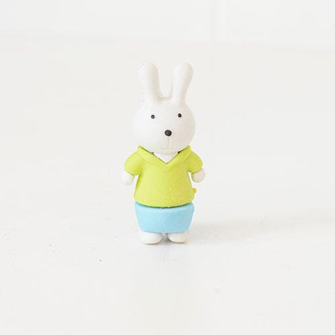 Fluffy and Cute Rubber Rabbit Erasers