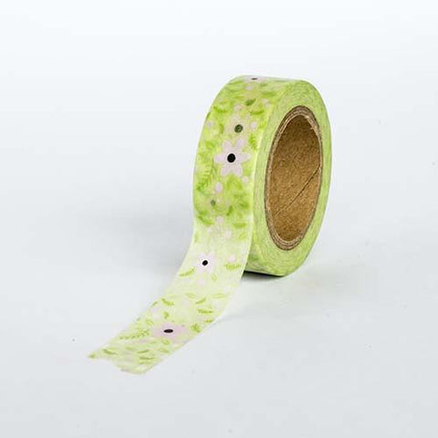 Green with Flower Tape