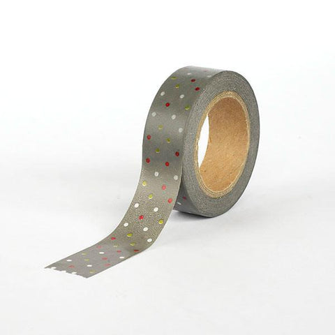 Grey with Dots Washi Tape