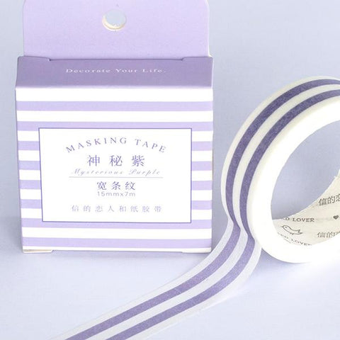 Washi Tape - Mysterious Purple Lines