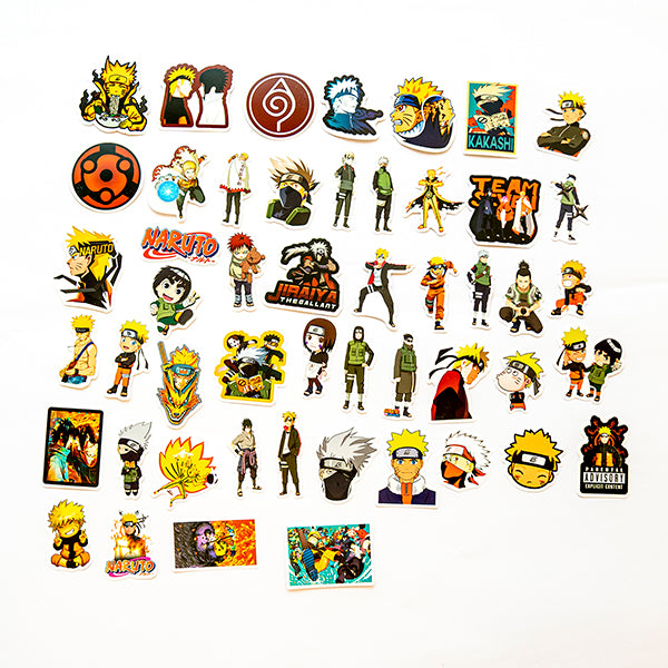 50 Naruto Sticker set