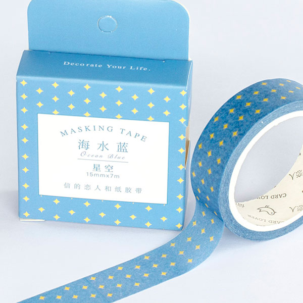 Washi Tape - Blue Sky Pattern