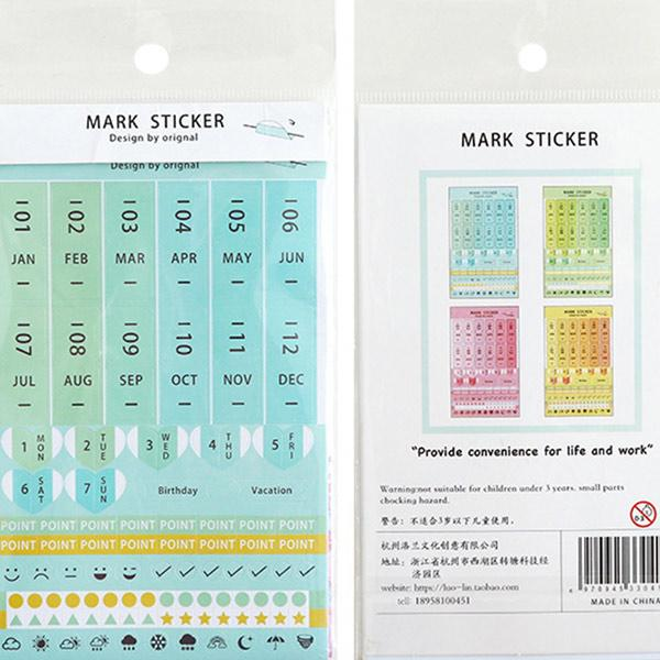 Colourful and Fun Index Stickers/ Bookmarks