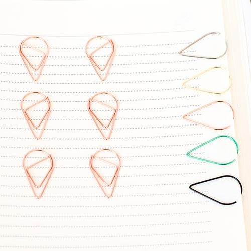 10 Rose Gold Paper Clips