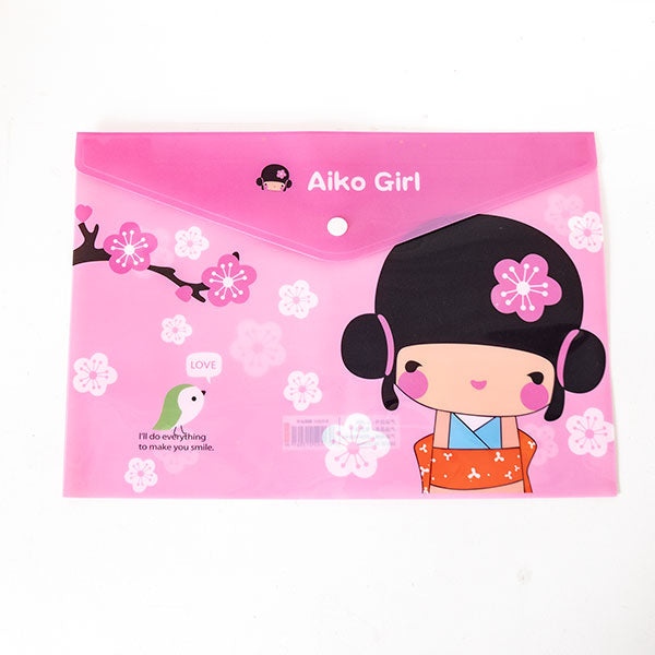 Pink Japanese Theme File Holder